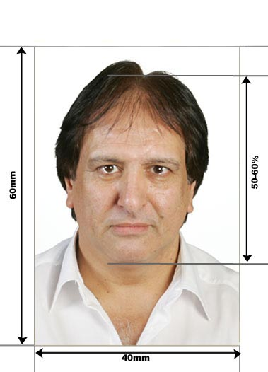 Greek passport photos