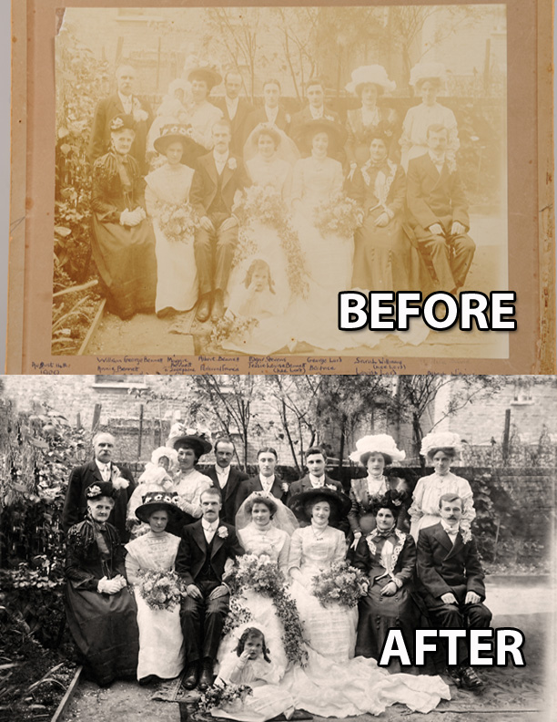 photograph restoration in sheffield